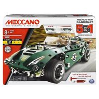 MECCANO 5 Model Set - Roadster with Pull Back Race Car Motor