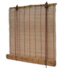 Bambusrollo / Bambus Rollos in Braun mit Schnurzug für Fenster viele Größen