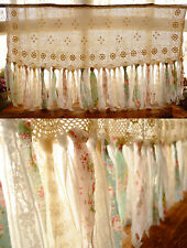5.6' Shabby Chic Curtain Rag Garland VTG lace Wedding Backdrop Pink Ivory BOHO