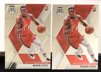 LOT OF 2 - 2019-20 PANINI MOSAIC #247 Base NASSIR LITTLE RC Rookie