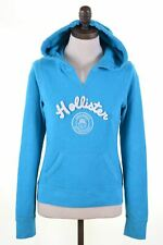 HOLLISTER Womens Hoodie Jumper Size 6 XS Blue Cotton Loose Fit  FF11