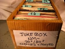 Jukebox Nm- 45 rpm vinyl records pop 70s/80s Rock you select Cleaned & Plays