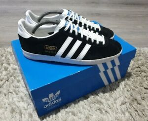 Adidas Original Gazelle OG Mens Black Suede Trainers - UK Size 8