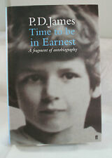 Time to Be in Earnest by P. D James (2000 HC) UK Signed First Edition