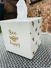 Wooden Tissue Box Covers, Hand Crafted Tissue Box Covers, bee theme, Christmas