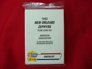 1993 NEW ORLEANS ZEPHYRS MINOR LEAGUE TEAM SET FLEER PROCARDS FACT. SEALED NICE