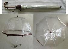 Alter Regenschirm - Glockenschirm - PVC - Transparent