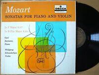 Decca gold label DL 9862 SEEMANN / SCHNEIDERHAN Mozart Sonatas MONO