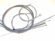 Vespa PX 80- 200 ALT -1983 TEFLON Cable Kit Seilzugkit Seilzüge Zugsatz Neu
