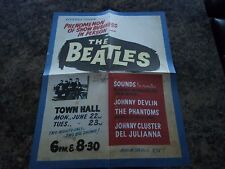 THE BEATLES 1964 NEW ZEALAND POSTER
