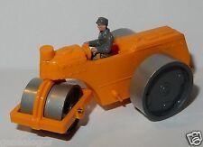 rare WIKING HO 1/87 TRAVAUX PUBLIC ROULEAU COMPRESSEUR Alte Straßen walze orange