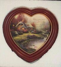 Thomas Kinkade Heart Collectors Canvas Plate Home Sweet Home Bradford Exchange