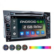 AUTORADIO CON ANDROID 6.0.1 2GB NAVI GPS DVD USB CD SD MP3 WIFI ADATTO PER OPEL