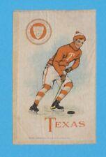 c1910s S22 Murad Cigarettes tobacco silk University of Texas Hockey Player