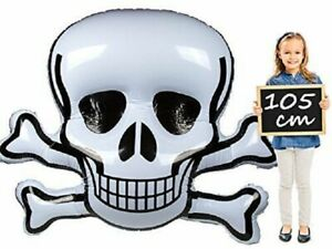 Extra Large Inflatable Skull and Crossbones 135 x 110 cm Pirate / Halloween Prop