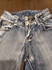Crocker Jeans jrs size 1 stretch  distressed
