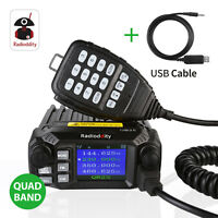 Radioddity QB25 Quad Band Quad-standby Mini Mobile Car Radio VHF UHF 25W/10W