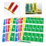300x 5-Farbe Klebe Etiketten Kabel Markierungen Wasserdicht Haftetiketten Farbig