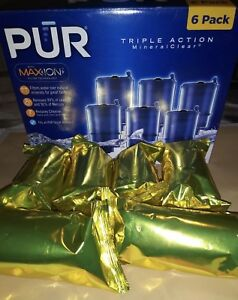 Genuine OEM PUR RF-9999 Mineral Clear Replacement Filter Refills SIX 6 SEALED