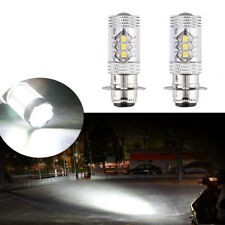 Pair 6000k H6 80W Motorcycle Super White LED Headlights Bulbs Upgrade for Yamaha