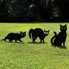 New 3x Black Metal Garden Scare Cats Pest Control Scarer Repeller Cat Deterrant