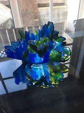 Vintage Jeannette Glass Blue Green Centerpiece