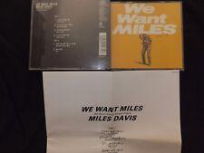 COFFRET 2 CD MILES DAVIS / WE WANT MILES / JAPAN PRESSAGE / RARE /