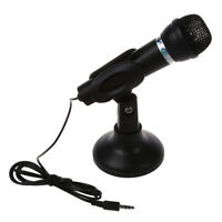 Omnidirectional Laptop PC Computer 3.5mm Network Stand Mini Microphone Mike B SS