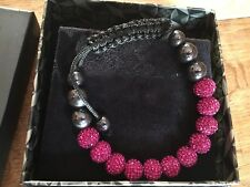 Rox Fuchsia Crystal Disco Bracelet, BNIB, Receipt available