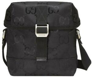 """NEW GUCCI CURRENT BLACK GG CANVAS """"OFF THE GRID"""" MESSENGER CROSSBODY BAG UNISEX"""