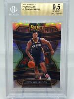 2019-20 ZION WILLIAMSON SELECT SILVER CONCOURSE PRIZM RC #1 BGS 9.5 GEM MINT