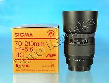 SIGMA UC ZOOM 70-210mm/4-5.6 für Sony Minolta A Objektiv lens objectif - (75233)
