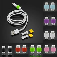 Set of 10 Protector & Saver Apple iPhone iPad Lightning USB Data Charging Cable