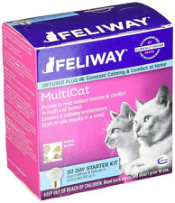 CEVA Feliway Multi-Cat Plug-In Diffuser, 30-Day Starter Kit, 48 mL