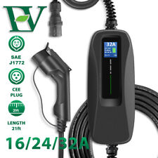 EV Charging Cable 32A Electric Car Charger Box Type1 CEE 7.2KW SAE J1172 EVSE