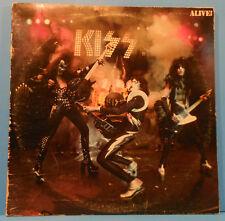 KISS ALIVE! VINYL 2X LP 1975 ORIGINAL PRESS PLAYS GREAT! VG+/VG!!A
