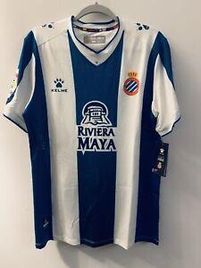 Espanyol Kelme  soccer jersey. new. Large. Spain España futbol La Liga Barcelona