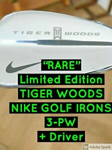 """Nike """"Tiger Woods"""" Limited Edition Irons 2004 + 7.5 Driver RARE  (NEW SEALED)"""