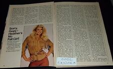 1982 TV ARTICLE~SEXY HEATHER THOMAS is JODY BANKS on THE FALL GUY TV SERIES