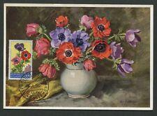 SAN MARINO MK 1957 FLORA KRONENANEMONE MAXIMUMKARTE MAXIMUM CARD MC CM d8096