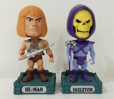 Masters of the universe He-Man Skeletor Funko Wacky Wobbler x 2 30th anniversary