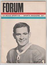 1965 MONTREAL CANADIENS FORUM NHL PROGRAM CHICAGO BLACKHAWKS BOB ROUSSEAU COVER