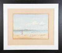 John Cochran (fl.1929) - Signed Early 20th Century Watercolour, At the Beach