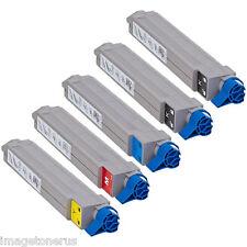5-Pack Toner Cartridges Set for Okidata Oki C9600 C9650 C9800 42918904 42918901