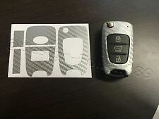 Carbon Silber Folie Schlüssel Hyundai z.B.: i10 i20 i30 ix35 ix20 Elantra