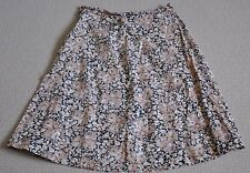 Ladies, Vintage, Retro, A Line Skirt, Black, Beige, Floral, Size 14