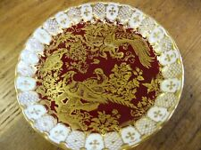 ROYAL CROWN DERBY 'Red Aves Heraldic' Coffee saucer, Excellent Condition