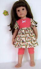 Puppenkleidung Passt Hannah & Jessica 46-50cm  G 2teiliges Kleidchen mit Leggins