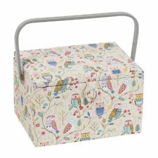 Large Sewing Box / Basket - Twit Twoo - Owls - Hobbygift ~ MRL506