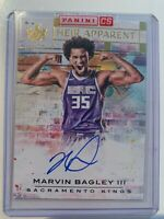 2018-19 NBA Court Kings Heir Apparent Rookie On Card Auto Marvin Bagley /199